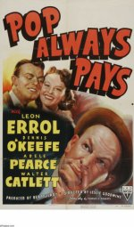 Pop Always Pays [1940] [DVD]
